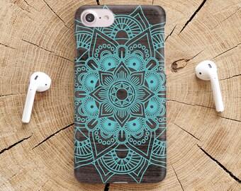 Mandala iPhone X Case Wood iPhone 7 Case Henna iPhone 7 Plus Case Coque Phone 6 Case  Mandala iPhone 8 Case Phone iPhone X Wood Case YZ1407