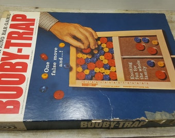 booby trap, 1965, vintage board game, parker brothers