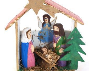 Nativity Scene / polish folk art / folk art from Poland / Nativity / polish sculpture