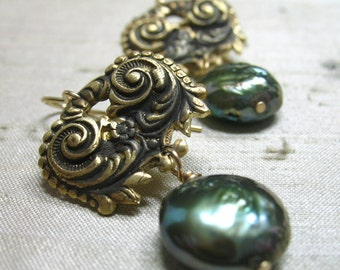 One of a Kind Rococo Pearl Earrings