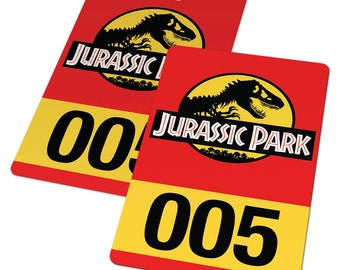 Custom ID Card Badge: Jurassic Park Vehicle Pass - The Lost World car or Jeep tag, Sci-fi Cosplay, Birthday or Christmas gift