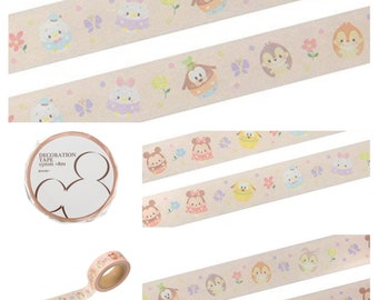 Disney Ufufy Egg Mickey & friends Washi Tape - Paper Masking Tape 15mm × 8m Blue