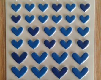 Bella blvd puffy heart stickers blueberry mix