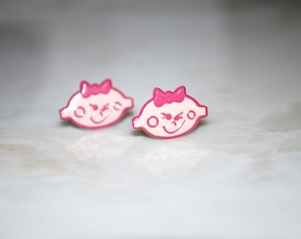 Girl Studs -- Baby Shower, Mother To Be, Pink Girls Earrings, Party Favor, It's a Girl