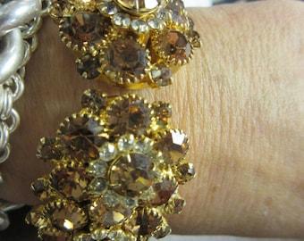 Awesome Juliana Rhinestone Clamper Bracelet