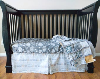 Moon Clouds and Stars Crib Set