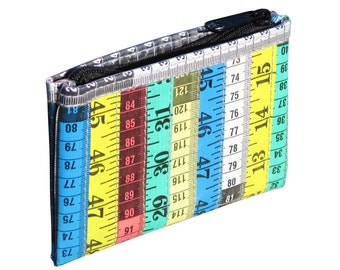 Measuring tape zip coin purse - FREE SHIPPING - Eco friendly, Measuring tape wallet, women mother sister gift, grandmother knitter sewer