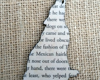 Call of the Wild, Book Hairclip, Reading Hairclip, Wildlife, Wolf Hairclip, Dog Hairclip, Dog Lover, Book Lover Gift, Literature Hairclip