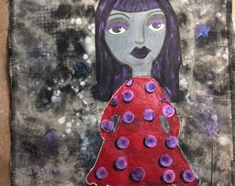 Odd Girl Art Quilt Im Grey Today