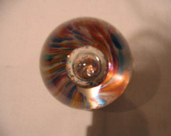 Cowdy Hand Blown Glass Paperweight Gloucestershire England