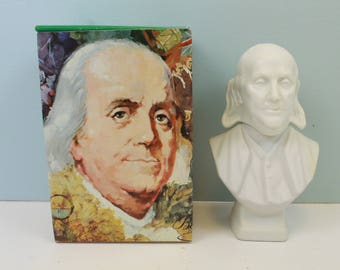 Avon Benjamin Franklin, Wild Country After Shave, Decanter, Avon Products, Avon Collectible, President Head Decanter, Bust, Figurine