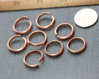 Copper Ring Blanks Unfinished Half Round Copper Rings