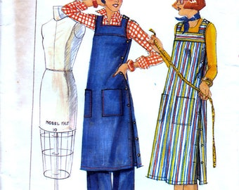 Butterick 4915 Vintage 70s Sewing Pattern for Misses' Dress, Tunic and Pants - Uncut - Size 10