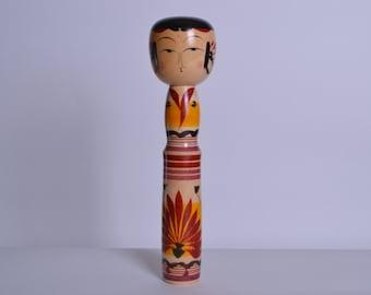 Japanese Vintage Kokeshi Doll  30cm japanese traditional wooden doll