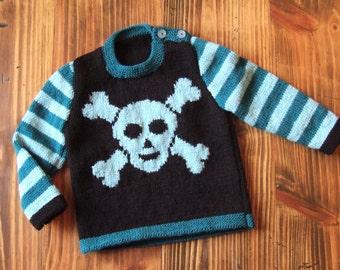 woollen hand-knitted jumper