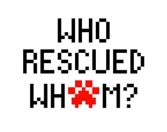 Who Rescued Whom? Cross Stitch Perler Pattern