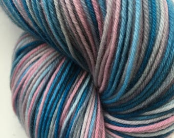 Antique Blue and Pink Variegated Sock Yarn