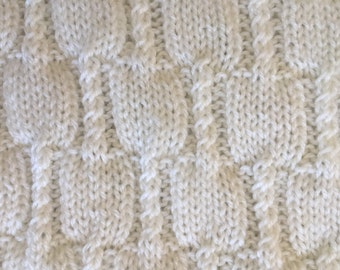 Handmade Crochet White Baby Blanket