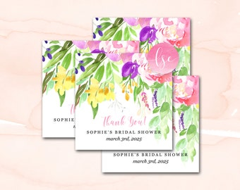 Bridal Shower Favor Tags, Party Favor Tags, Wedding Favor Tags, Printable or Printed Favor Tags