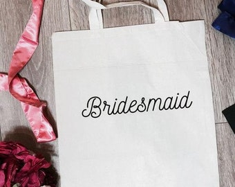 Bridesmaid Tote Bag | Bridesmaid Totes | Bridesmaid Canvas Bag | Bridesmaid Gifts | Bridesmaid Favors | Bridesmaid Accessory | Bridal Totes