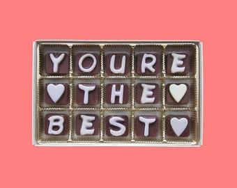 U bent het beste cadeau waardering cadeau voor Man Bedankt cadeau idee voor moeder chocolade bericht brief cadeau Stuur een verrassing cadeau voor vrouw