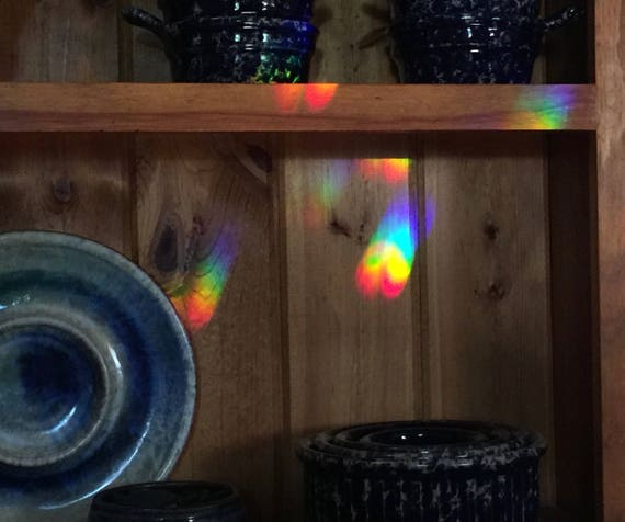 Solar Powered Rainbow Maker w/free Crystal of Choice, Rotating Crystal, Sun Powered Rainbow Maker, Lg. Swarovski Crystal, Crystal Home Decor
