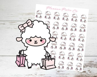 Lamb Planner Stickers // Shopping Spree // Retail Therapy // 008
