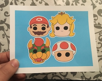 4 SUPER MARIO BROTHERS Sticker Sheet