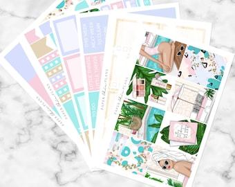 Poolside // Erin Condren Vertical Weekly Planner Kit - MATTE