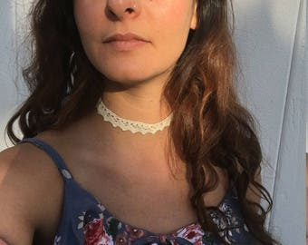 Crochet Choker Necklace