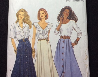 Butterick Fast And Easy Misses/Misses' Petite Skirt Pattern 6860 Size 18, 20, 22