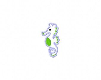 seahorse embroidery design, seahorse applique design, sea embroidery design, horse embroidery design, ocean embroidery design