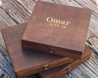 Rustic Wooden Cigar Box, Groomsmen Gift, Groom Gift, Cigar Box, Wedding Gift, Groom Wedding Gift, Groomsmen Cigar Box
