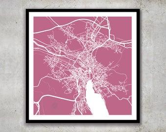Zurich Switzerland Art Map