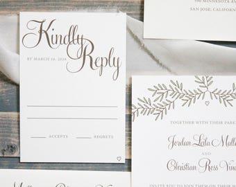 Rustic Boho Wedding Invitation, Wreath Wedding Invitation Set, Vintage Invitation Suite, Cheap Invitation, Boho Invites| Jordan & Christian