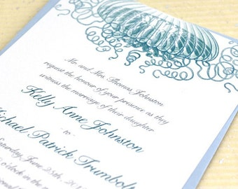 Jellyfish Wedding Invitations for your Beach Wedding