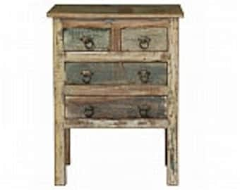 New Industrial Rustic Cafe Home Bedside Small Reclaim Chest of Drawers Cabinets