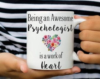Psychologist Mug, Psychologist Gifts, Psychologist Appreciation Coffee Mug, Graduation Gift