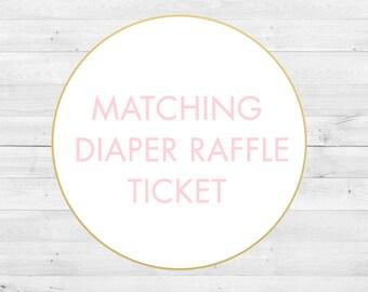 Matching Diaper Raffle Ticket, Digital File
