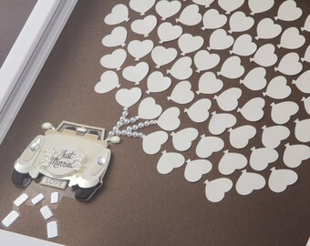 Wedding Guest book Alternative - wedding guestbook - 70 heart balloons - for 100 guests
