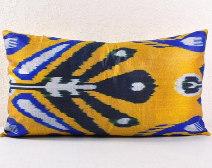 Ikat Pillow, Hand Woven Ikat Pillow Cover  IP96 (lip112), Ikat throw pillows, Designer pillows, Decorative pillows, Accent pillows