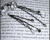 Quartz Earrings, Pyrite E...