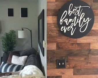 Best Family Ever Circle Sign