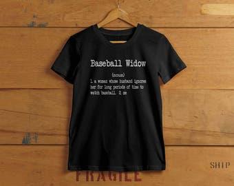 Baseball-Witwe T-shirt - Damen Humor hat T-shirt