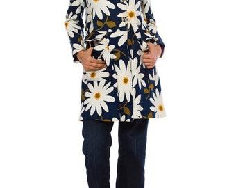 1960s Vintage Daisy Print Coat   Size: S/M