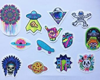 Pack of 8 Kv Art Stickers