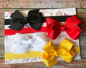 Baby Headbands, Bow Headbands, Baby Girl Headbands, Hair Bows, Toddler Headband, Bow Headband Set, Baby Headband Set, Newborn Headband Set