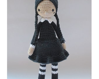 Wednesday Addams - Crochet Pattern by {Amour Fou}