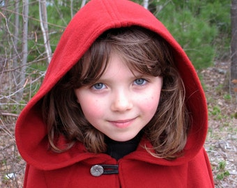 Little Red Riding Hood Cape - Red Cape - Kids Cape