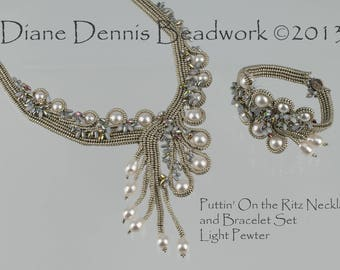 Kit for Puttin' On the Ritz Necklace and Bracelet in Light Pewter